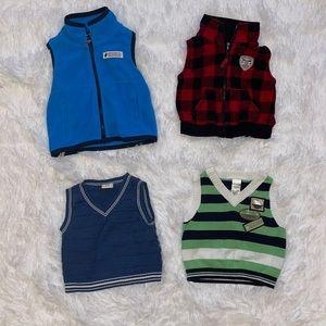 $3 Sale Lot of Boys Vests Size 0-3 M